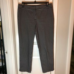 Talbots black and white polkadot slacks